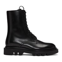 Givenchy Black Leather Combat Boots