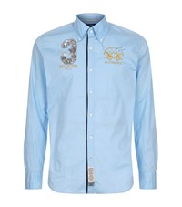 La Martina Poplin Long Sleeve Shirt Male Light Blue