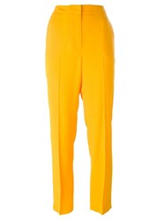 Msgm High Rise Tailored Trousers Yellow And Orange