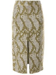 Camilla And Marc Alissa Snakeskin Print Skirt Neutrals