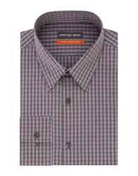 Geoffrey Beene Striped Fitted Dress Shirt Grey