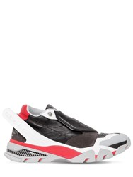 Calvin Klein 205W39nyc Cander 7 Leather Suede Neoprene Sneaker Black Red White