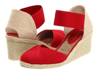 Lauren Ralph Lauren Charla Red Elastic Women's Wedge Shoes