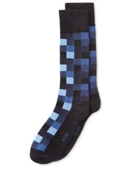 Alfani Men's Box Texture Socks Only At Macy's Blue