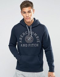 Abercrombie And Fitch Crest Hoodie In Navy Navy