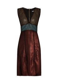 House Of Holland Chain Mail Knit Dress Multi