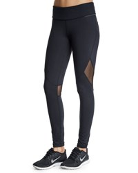 Alala Captain Tight Leggings With Mesh Panel Black