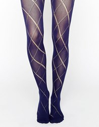 Asos Diamond Pelerine Tights Navy