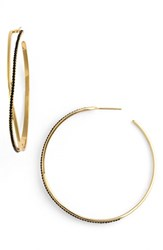 Jules Smith Designs Women's 'New Pave Twist' Hoop Earrings