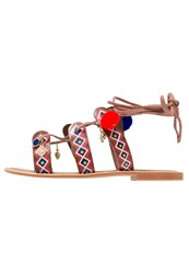 Glamorous Sandals Red Multicolor
