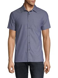 Perry Ellis Slim Fit Dobby Button Down Shirt Ink