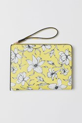 Handm H M Patterned Clutch Bag Yellow