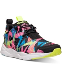 Reebok Men's Furylite Graphic Running Sneakers From Finish Line Neon Blue Black Energy Bl