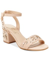 Nanette Lepore By Ruby Two Piece Block Heel Sandals Only At Macy's Women's Shoes Blush