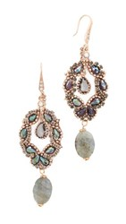 Theia Jewelry Athena Chandelier Earrings Antique Gold