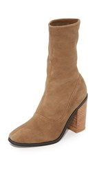 Sol Sana Chloe Stretch Booties Cognac