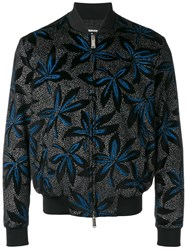 Dsquared2 Floral Bomber Jacket Black