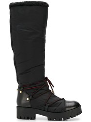 Emporio Armani Ridged Sole Boots Black