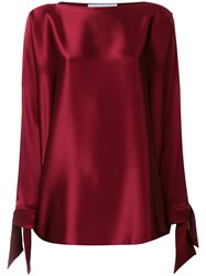 Gianluca Capannolo Tie Cuff Blouse Red