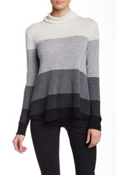 Cullen A Line Colorblock Cowl Neck Cashmere Sweater Multi