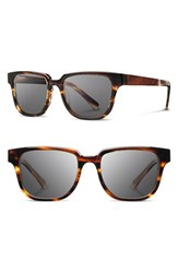 Shwood Men's 'Prescott' 52Mm Acetate And Wood Sunglasses Tortoise Grey Tortoise Grey