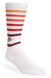Nike Men's Retro Stripe Socks White Orange