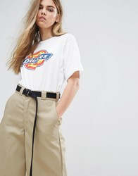 Dickies Boyfriend T Shirt With Front Logo Wh White