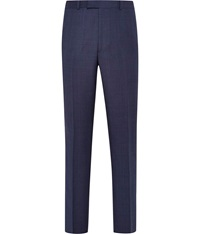 Austin Reed Check Tailored Fit Suit Trousers Blue