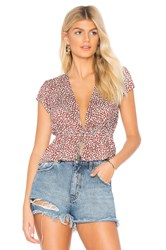 Rolla's Lulu Blouse Red