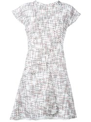 Chanel Vintage Cap Sleeve Tweed Dress White