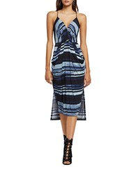 Bcbgeneration Striped Sleeveless High Low Dress Black