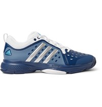 Adidas Sport Barricade Classic Bounce Coated Mesh Tennis Sneakers Storm Blue