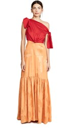 Hellessy Louise Gown Rouge Apricot