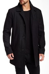 Kenneth Cole Textured Pattern Coat Black