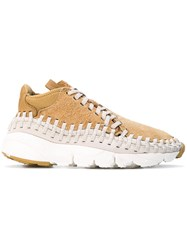 Nike Air Footscape Woven Chukka Boot Men Leather Polyester Rubber 8 Nude Neutrals