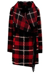 Replay Classic Coat Red Black