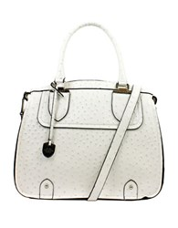 London Fog Kensington Vegan Leather Satchel White