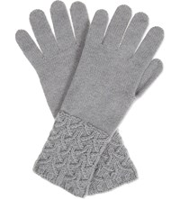 Johnstons Textured Cuff Cashmere Gloves Coyote