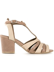 Henry Beguelin Chunky Heel Sandals Brown