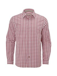 White Stuff Men's Heartland Gingham Long Sleeve Shirt Pink