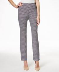 Charter Club Petite Printed Pull On Pants Only At Macy's Deepest Navy