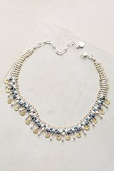 Anthropologie Driplet Choker Necklace Silver