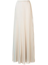 Vionnet Pleated Maxi Dress Blue