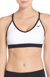 Nike Women's 'Pro Indy' Dri Fit Sports Bra White White Black Black