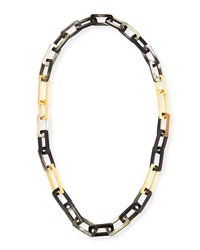Horn And Gold Plated Link Necklace Maiyet