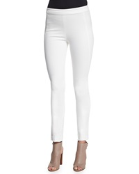 Donna Karan Ultra Stretch Cropped Twill Pants Ivory