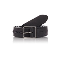Felisi Pick Stitched Leather Belt Black