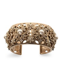 Marchesa Embellished Cuff White Gold