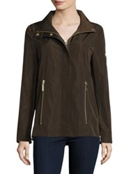 Dawn Levy Jackie Zip In Hood Rain Jacket Olive