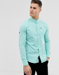 Superdry One Pocket Oxford Shirt In Mint Green